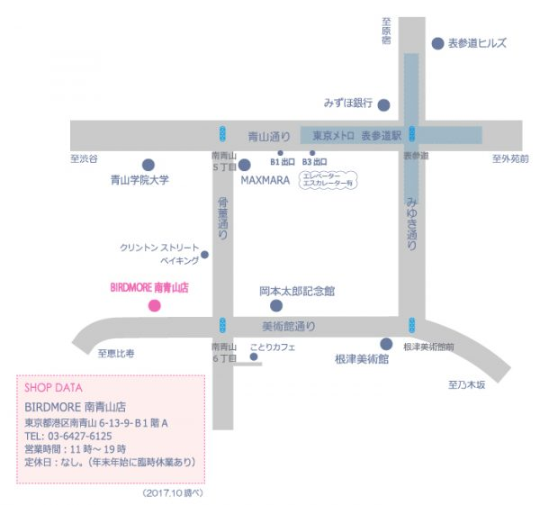 BIRDMORE南青山店の周辺地図