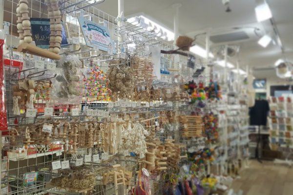 BIRDMORE南青山店のオリジナルおもちゃコーナー