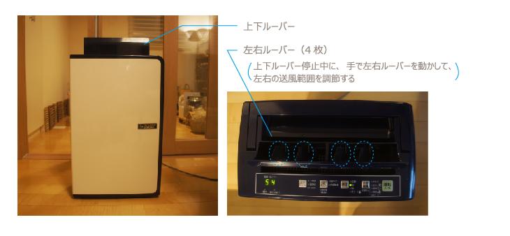 チンチラのための湿度対策 コロナ CD-H1016 上下ルーバーと左右ルーバー