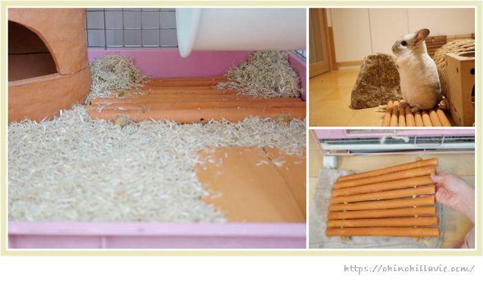 チンチラのティモのケージ床環境づくりで愛用している手作りしたテラコッタ