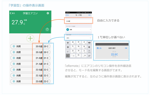 株式会社リンクジャパン eRemote エアコン操作を学習させる手順 学習型エアコン