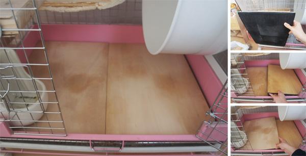チンチラのティモのケージレイアウト お迎えする前に準備したものリスト 床材