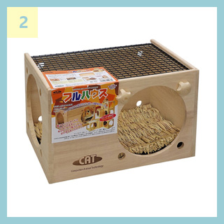 ChinchillaVie | チンチラのティモに用意した巣箱② KAWAI フルハウス