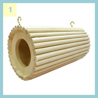 ChinchillaVie | チンチラのティモに用意した巣箱① SBSコーポレーションのオリジナル円筒巣箱